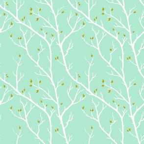 Spring Branches, Mint and Gold