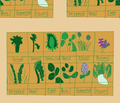 herb garden fabric by kmldog on Spoonflower - custom fabric