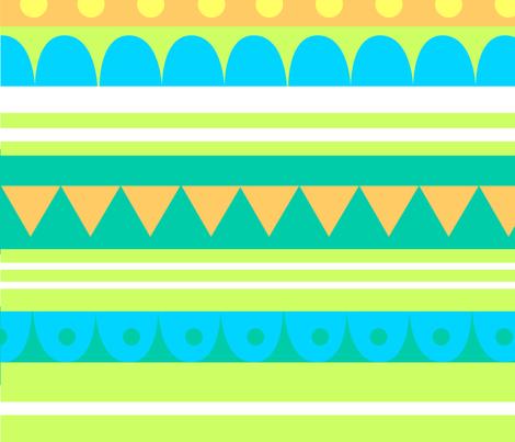 Circus Pattern Yellow fabric by beckylong10 on Spoonflower - custom fabric
