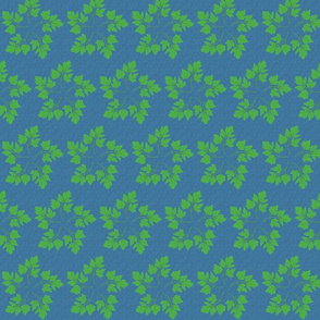 parsley stars medium blue background