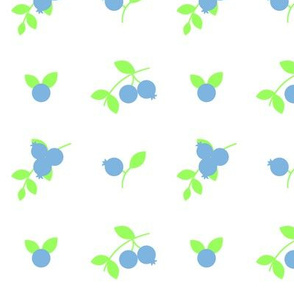 Blueberry Delight in Blue and Green