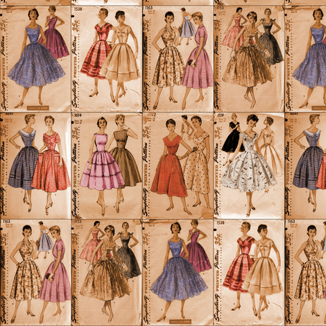 dress patterns fabric by vickythorndale on Spoonflower - custom fabric