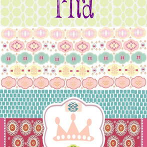 Morocco_Quilt princess 2 Medium Print personalized