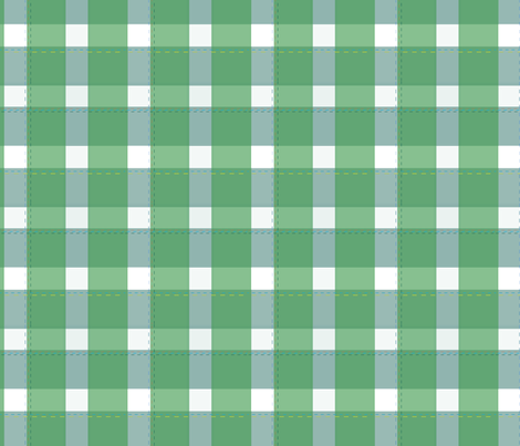 Picnic_Gingham_green fabric by colour_angel_by_kv on Spoonflower - custom fabric