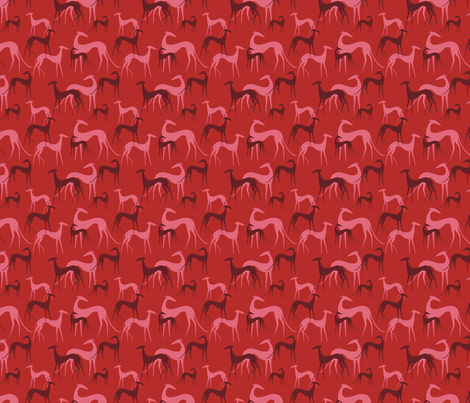 sighthound berries SMALL fabric by lobitos on Spoonflower - custom fabric