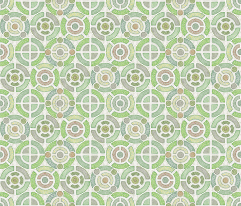 Round and Round the Herb Garden fabric by j9design on Spoonflower - custom fabric