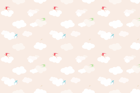 Plaintive Swallows fabric by stitchygolightly on Spoonflower - custom fabric