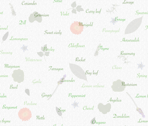 Herbs from the garden fabric by greennote on Spoonflower - custom fabric