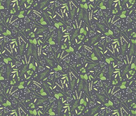 Herb Garden Toss fabric by badger&bee on Spoonflower - custom fabric