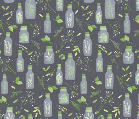 Herb Garden Apothecary fabric by badger&bee on Spoonflower - custom fabric