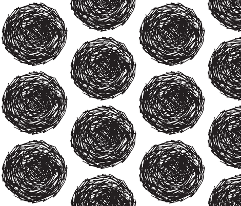 nest B+W fabric by jenniferpanepinto on Spoonflower - custom fabric