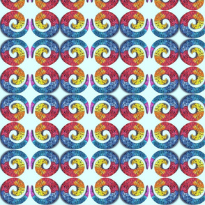 Eggshell Rainbow Swirl on White
