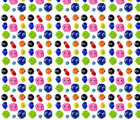 Googly Blobs fabric by tropicmel on Spoonflower - custom fabric