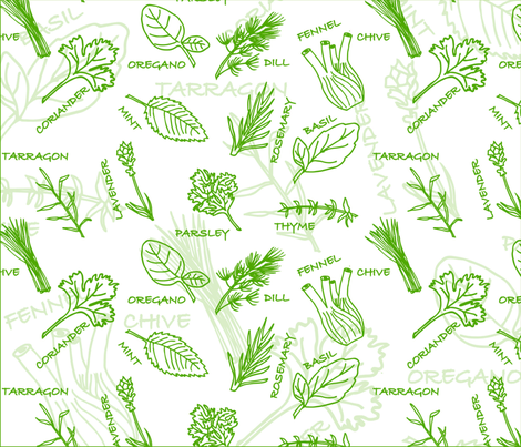 Green_Fresh fabric by lilifrontado on Spoonflower - custom fabric