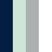 Vertical Stripes // Navy/Grey/Mint