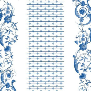 Wildfell Toile ~ Blue and White