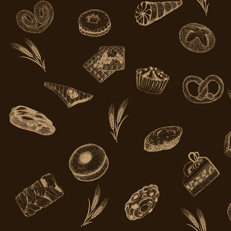 pastry_breads_5 fabric by lafleur on Spoonflower - custom fabric