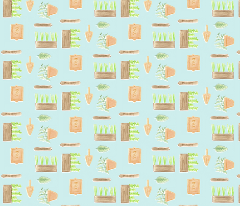 Herbs fabric by t-w-i-n-k-l-e on Spoonflower - custom fabric