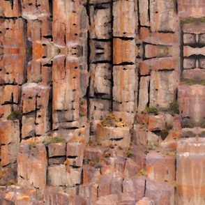 Abstract cliff face