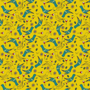 pattern_yellow_cuckoo