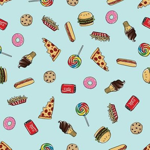 junk food toss pattern wallpaper jessiesima spoonflower