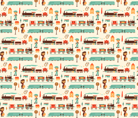 At The Train Station fabric by ceneri on Spoonflower - custom fabric