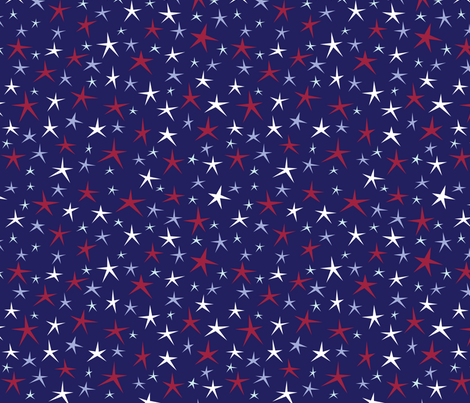 Patriotic Stars fabric by brendazapotosky on Spoonflower - custom fabric