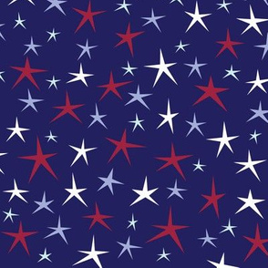 Patriotic Stars (Blue Multi)