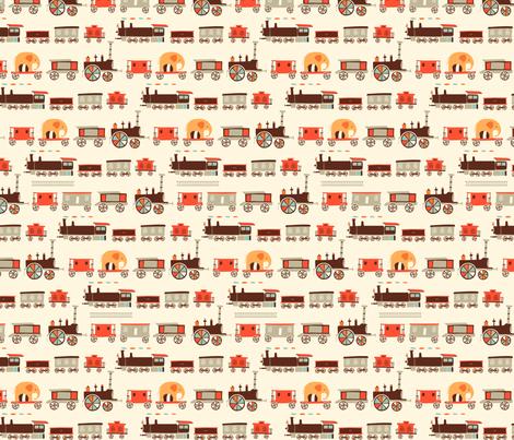 Choo-Choo Train fabric by ceneri on Spoonflower - custom fabric