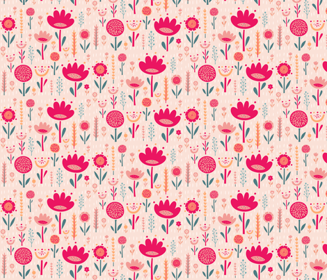 Garden Shower fabric by ceneri on Spoonflower - custom fabric
