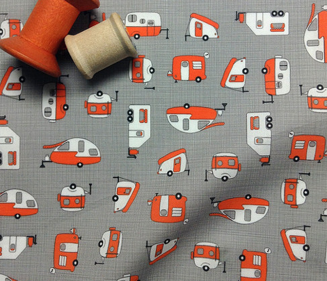 Scattered Campers Orange/Charcoal