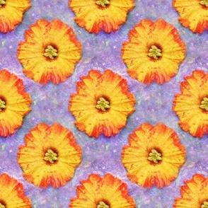 Gorgeous Orange Flower Over Purple
