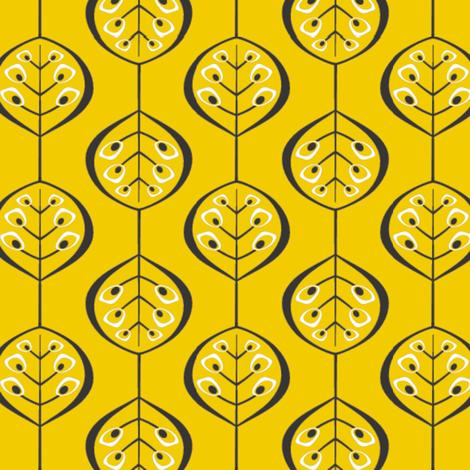 Folia Flavum fabric by carimateo on Spoonflower - custom fabric