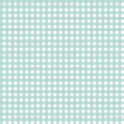 Mini Picnic Aqua/White