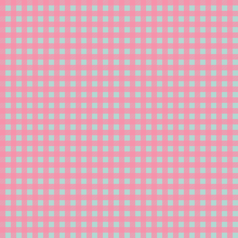 Mini Picnic Pink/Aqua fabric by juliesfabrics on Spoonflower - custom fabric