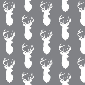 deer silhouette in gray background