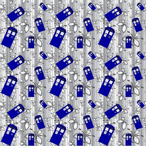 Police Box Gray Abstract Stripe