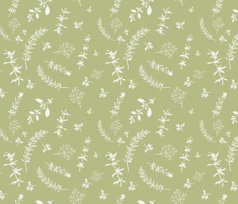 Aromatic Herbs fabric by ksanask on Spoonflower - custom fabric