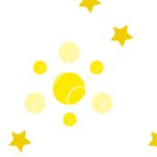 Tennis, stars, yellow, ellan, sports