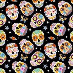 sugar skulls - black, small