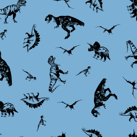 7bafd4 Dinos fabric by candyjoyce on Spoonflower - custom fabric