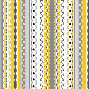 Wave stripes mustard