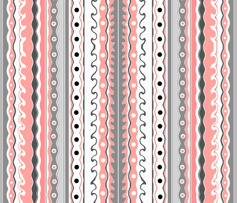 Waves in pink  fabric by whimzwhirled on Spoonflower - custom fabric