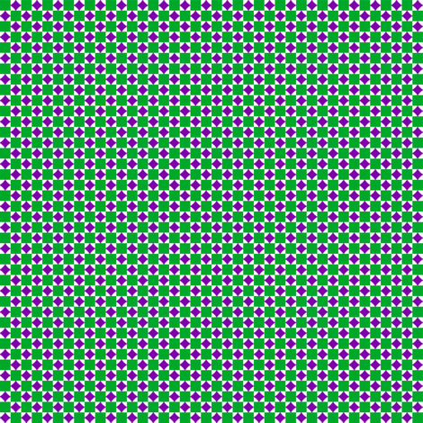 Tiny Squares and Diamonds   -Green and Purple on White fabric by fireflower on Spoonflower - custom fabric