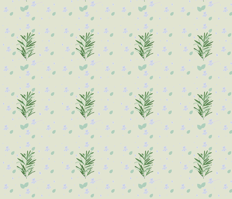 Elegant seamless pattern with herbs and flowers fabric by malercutio on Spoonflower - custom fabric
