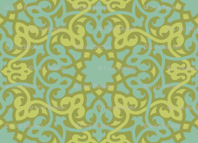 Cyngalese Arabesque blue-green