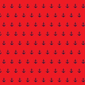 navy on red anchor