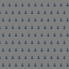 navy on grey anchor