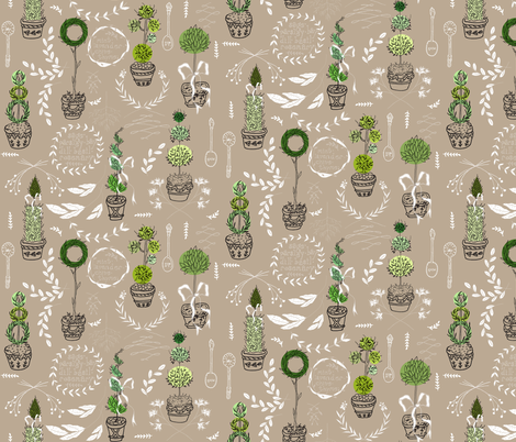 Herbal Topiary fabric by graceful on Spoonflower - custom fabric