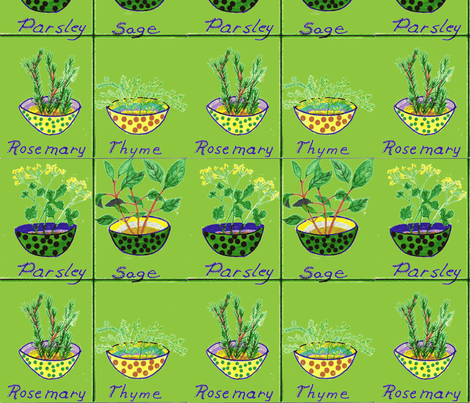 Parsley_Sage_Rosemary_and_Time-ch-ch fabric by pink_finch on Spoonflower - custom fabric